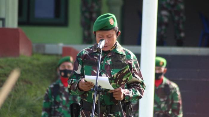 Gelar Upacara Hari Kesadaran, Dandim Abdya Sampaikan Amanat Danrem 012/TU