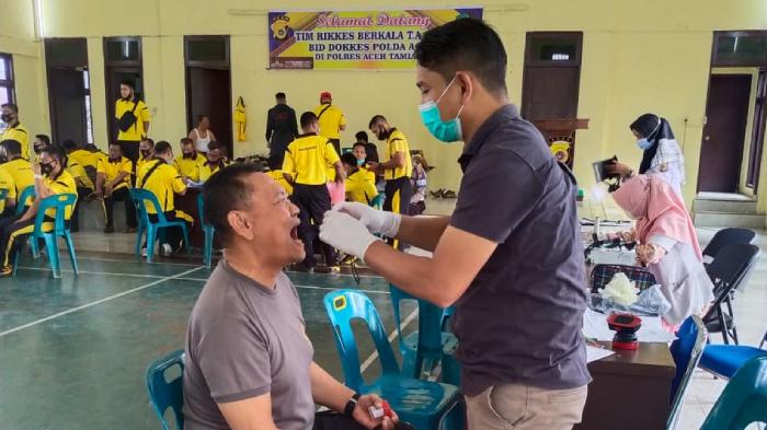 Ratusan Personil Polres Aceh Tamiang Lakukan Pemeriksaan Kesehatan