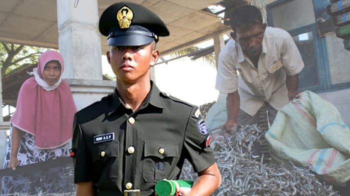 Anak Penjual Ikan Teri Lulus TNI, Orang Tua: Rasanya Tidak Mungkin