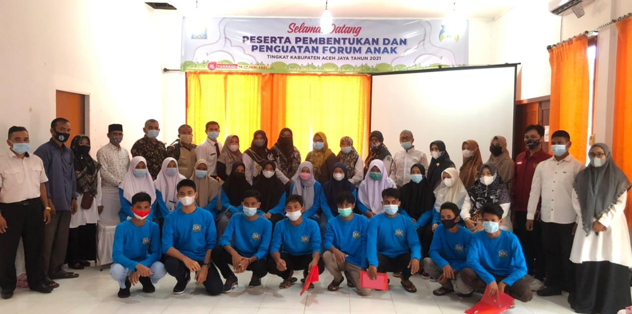 Forum Anak Aceh Jaya dilatih Sebagai Pelopor dan Pelapor