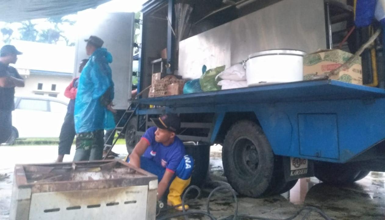 Dinsos Aceh Jaya Dirikan Posko dan Dapur Umum di Lokasi Banjir