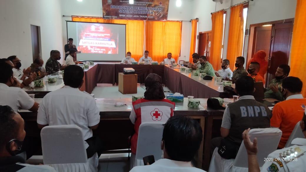 BPBK Aceh Jaya Bentuk Satgas Karhutla