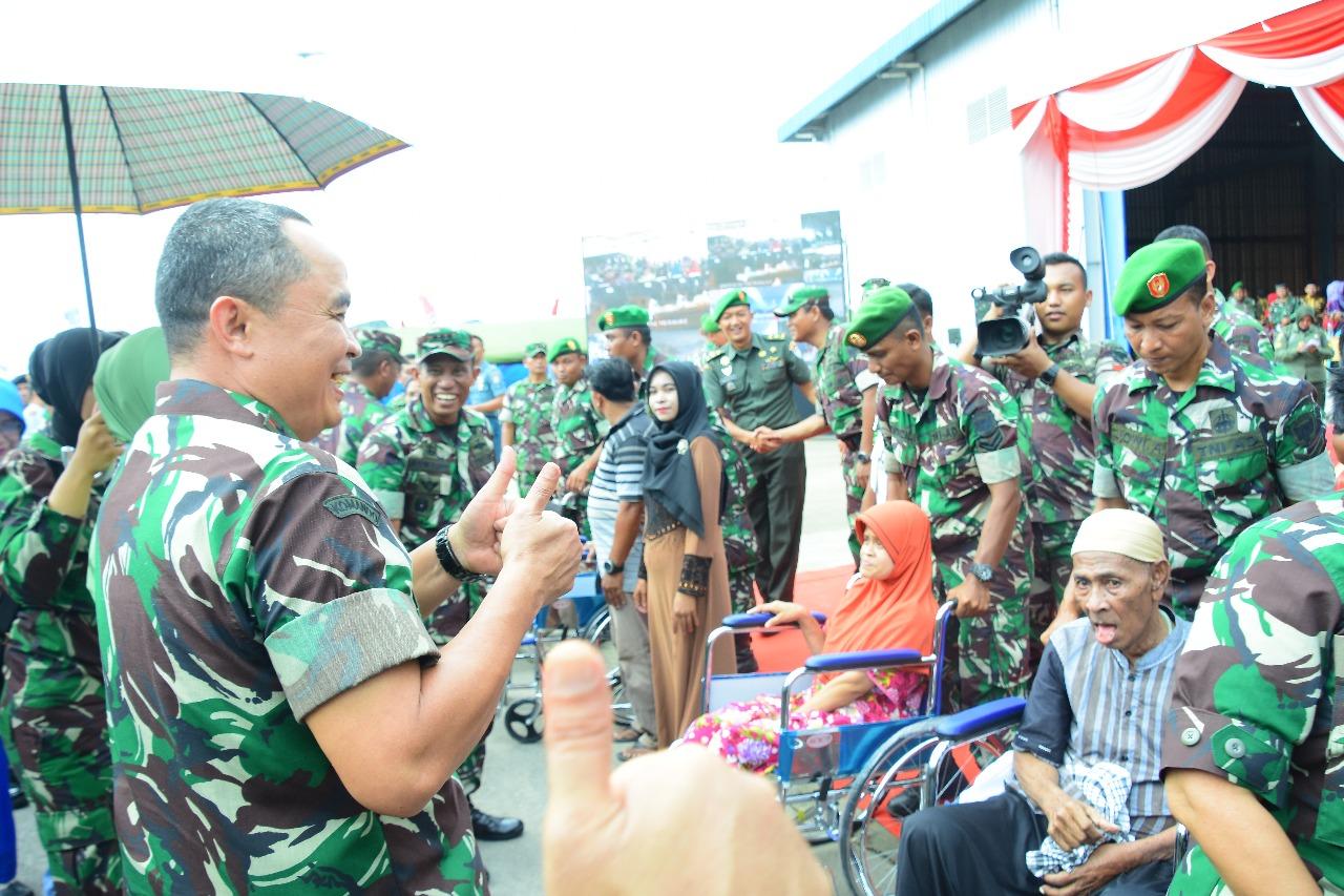 Pangdam IM dan Danrem 012/TU Tinjau Kegiatan Bakti Sosial TNI di Kota Sabang