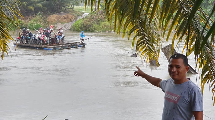 Jembatan Krueng Teukuh Abdya Tak Kunjung di Bangun
