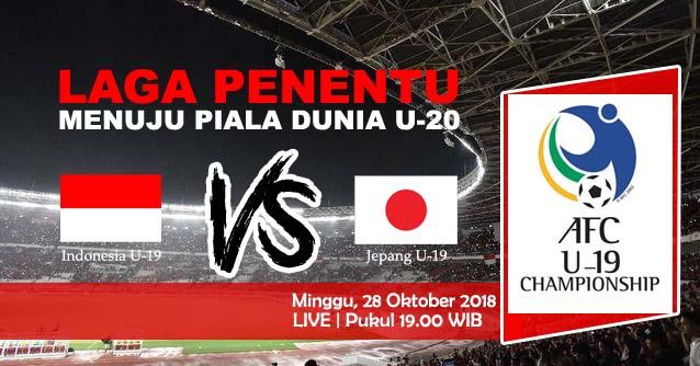 LINK LIVE STREAMING : Indonesia Vs Jepang, Selangkah Lagi Menuju Piala Dunia U-20