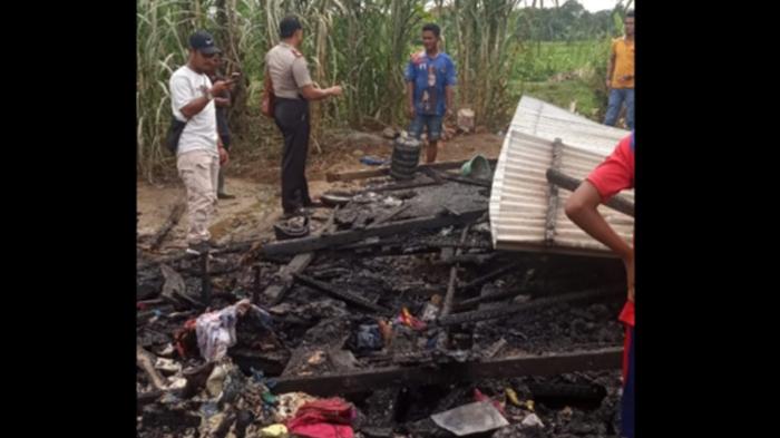 Dilalap si Jago Merah, Satu Unit Rumah Warga di Agara Rata Dengan Tanah