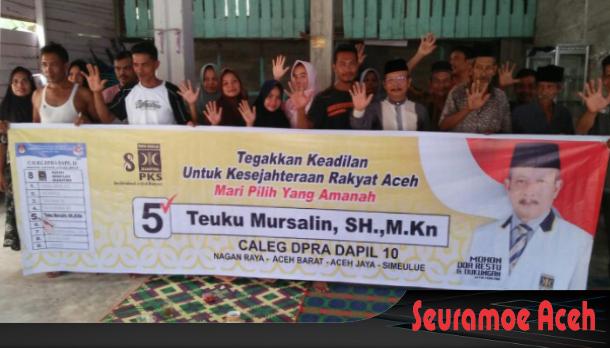 Dukungan Terhadap Teuku Mursalin SH, M.Kn Terus Mengalir